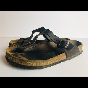 Birkenstock Gizeh Dark Brown Sandals Size 40 or 9